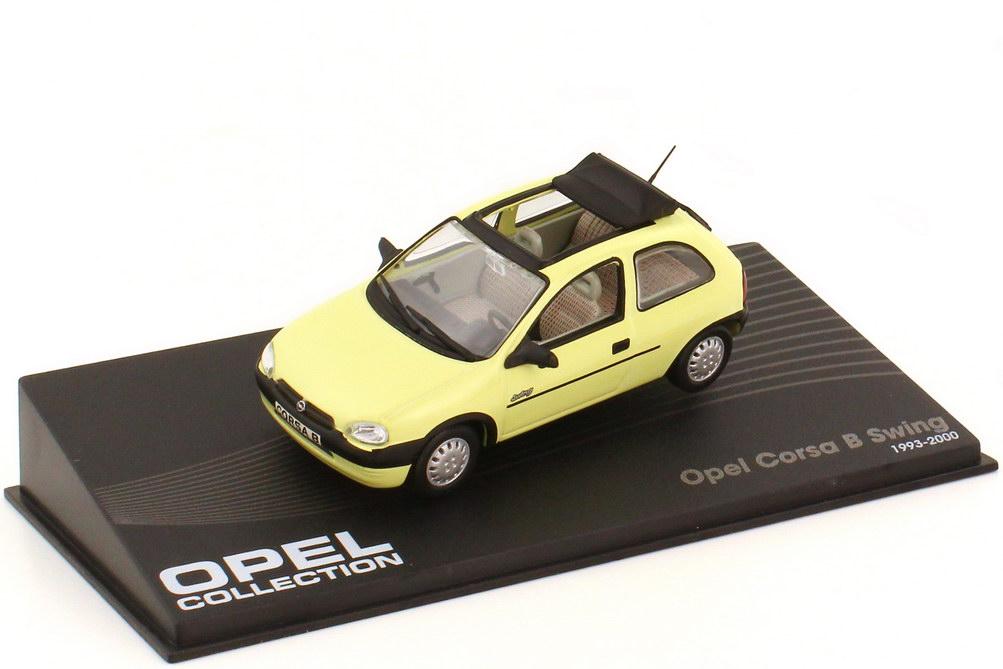 1:43 Opel Corsa B Swing 2türig mit Sonnendach ananasgelb (oU)