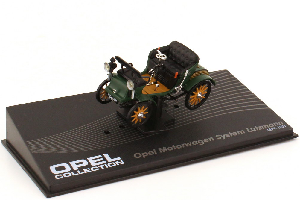 Foto 1:43 Opel Patent-Motorwagen System Lutzmann grün - Ixo Altaya Opel Collection 27