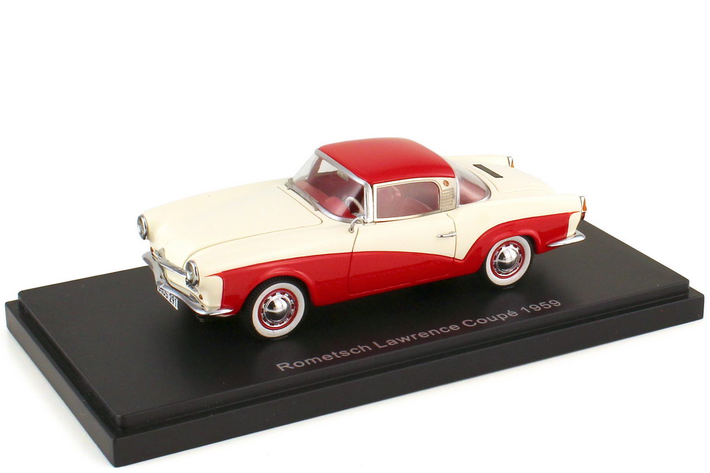 1:43 Rometsch Lawrence Coupé 1959 cremeweiß / rot