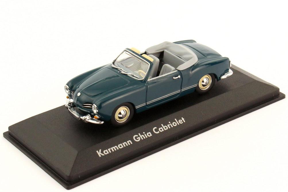 1:43 VW Karmann-Ghia Typ 14 Cabrio seeblau, graue Verpackung (VW)
