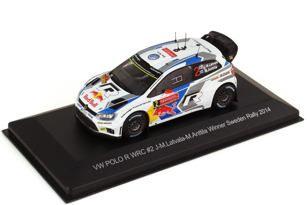 1:43 VW Polo R WRC Rallye Schweden 2014