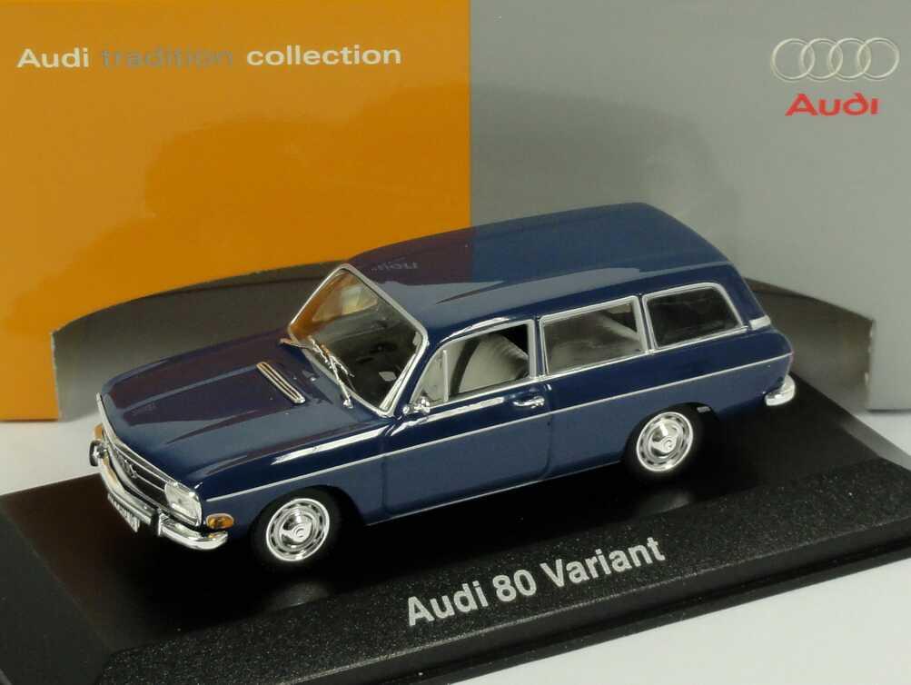 1 43 Audi 80 Variant Dunkelblau Werbemodell Minichamps
