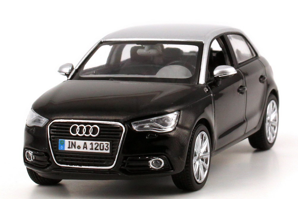 1 43 audi a1 sportback phantom schwarz eis silber black silver dealer oem ebay. Black Bedroom Furniture Sets. Home Design Ideas