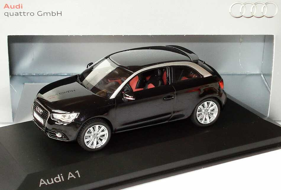 1 43 audi a1 phantomschwarz met werbemodell kyosho 5011001033. Black Bedroom Furniture Sets. Home Design Ideas