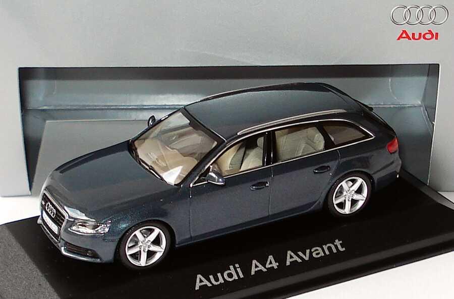 1 43 Audi A4 Avant B8 Meteorgrau Met Werbemodell