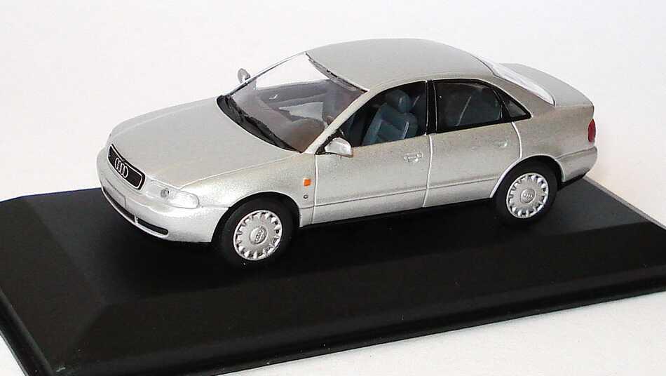 1 43 Audi A4 B5 Lichtsilber Met Werbemodell Minichamps