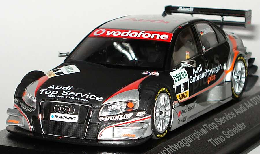audi a4 dtm 2007 audi gebrauchtwagen plus top service nr 8 timo scheider werbemodell. Black Bedroom Furniture Sets. Home Design Ideas
