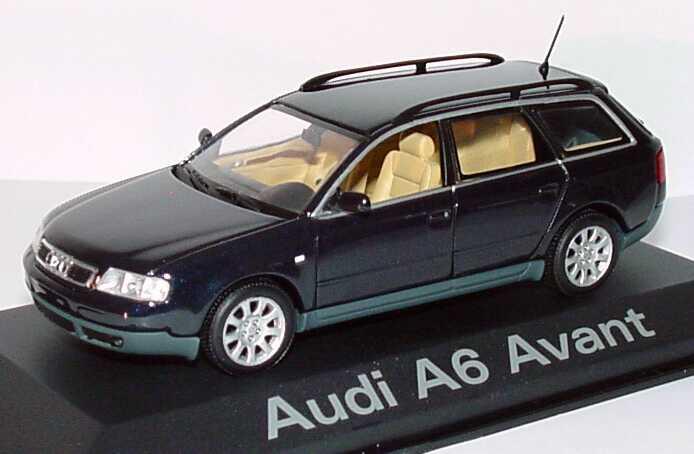 1 43 Audi A6 Avant C5 Mingblau Met Werbemodell