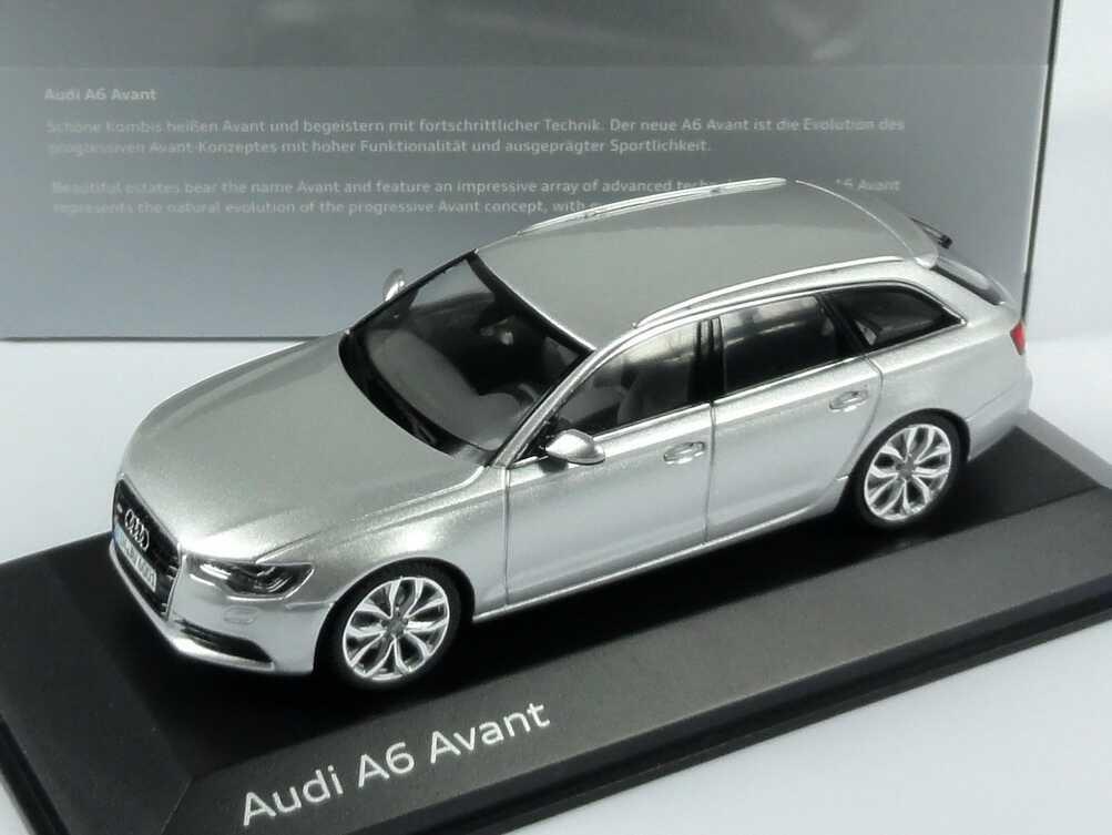 Audi A6 Avant C7 Eissilber Met Werbemodell Schuco