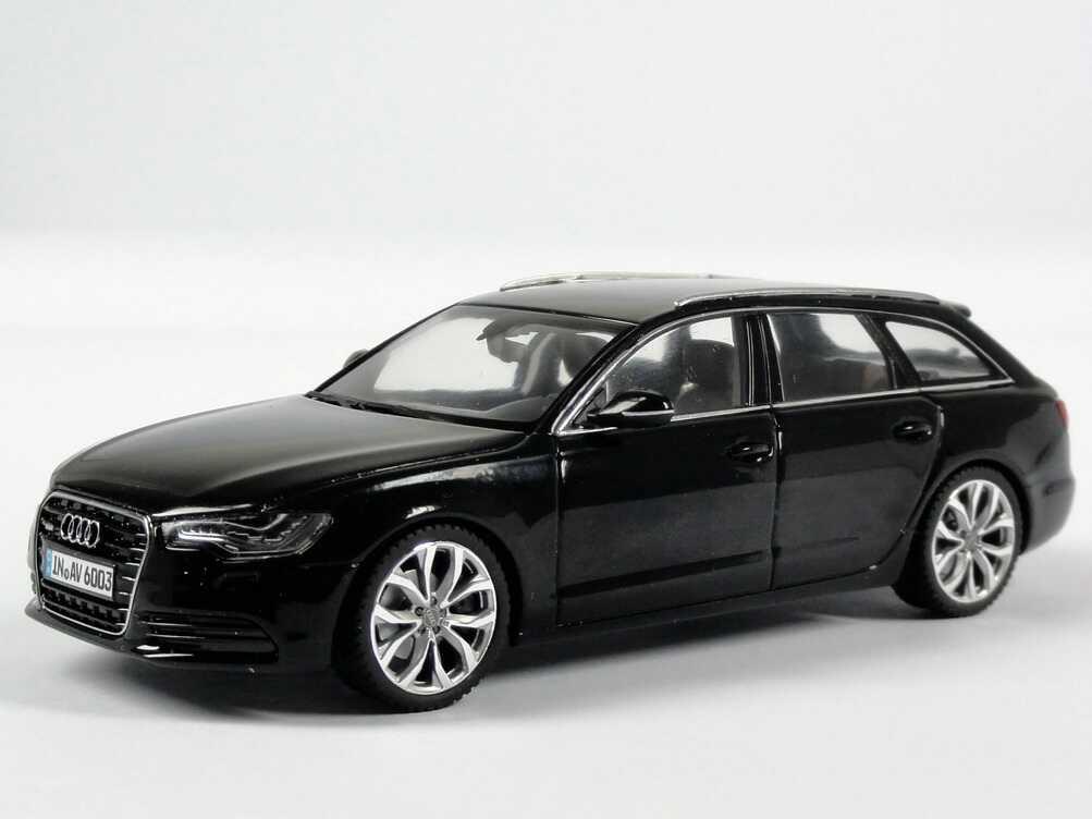 1 43 audi a6 avant c7 2011 2012 phantom schwarz black dealer edition schuco. Black Bedroom Furniture Sets. Home Design Ideas