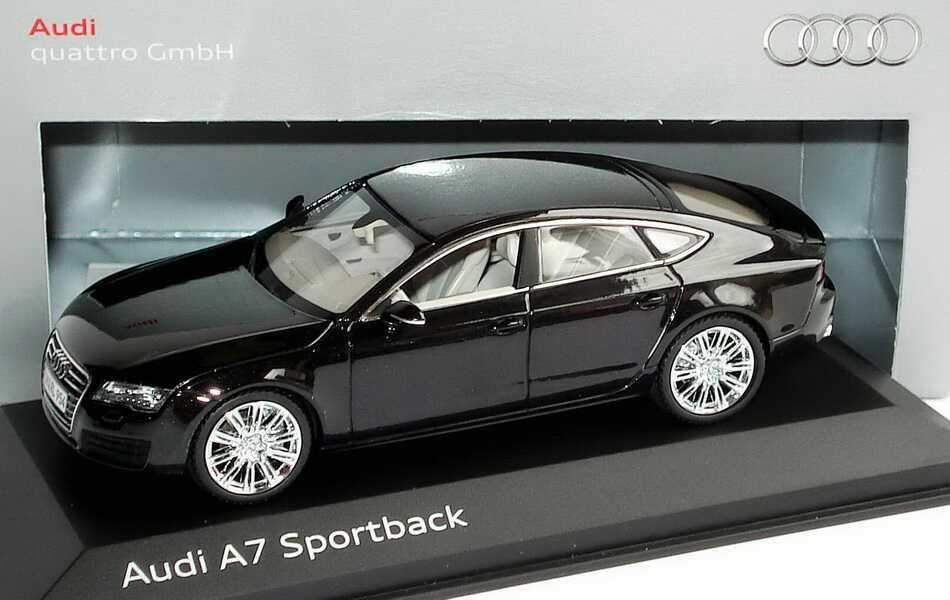 1 43 Audi A7 Sportback Phantomschwarz Met Werbemodell