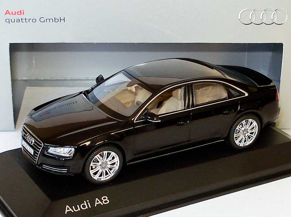 Audi A8 2010 Typ D4 Phantomschwarz Met Werbemodell