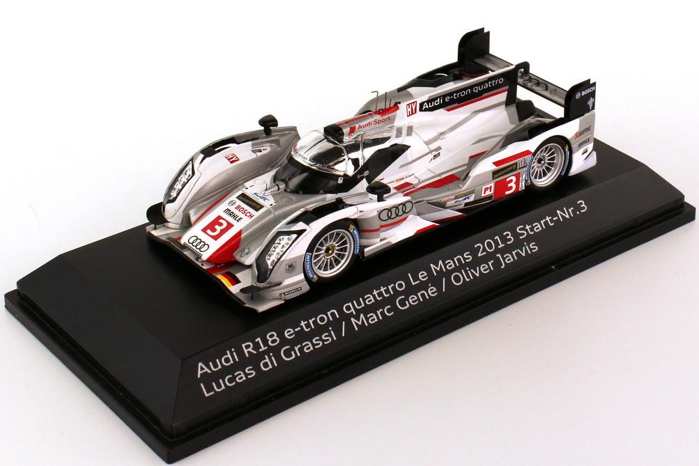 1:43 Audi R18 e-tron quattro 24h von LeMans 2013 Nr.3, di Grassi / Gené / Jarvis (Audi)