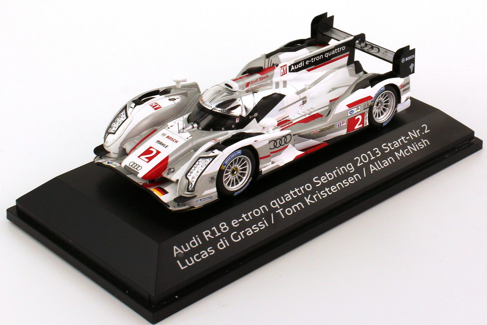 1:43 Audi R18 e-tron quattro Sebring 2013 Nr.2, di Grassi / Kristensen / McNish (Audi)