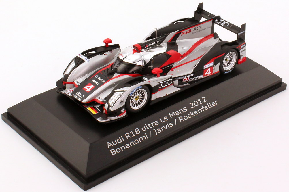 1:43 Audi R18 ultra 24h von LeMans 2012 Nr.4, Bonanomi / Jarvis / Rockenfeller (Audi)