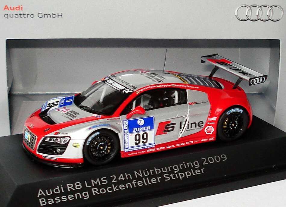 "1:43 Audi R8 LMS 24 Stundenrennen Nürburgring 2009 ""Phoenix Racing, S-Line"" Nr.99, Rockenfeller / Stippler / Basseng / Fässler (Audi)"