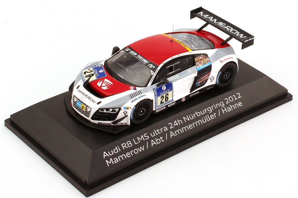 "1:43 Audi R8 LMS ultra 24h Nürburgring 2012 ""Mamerow"" Nr.26, Mamerow / Abt / Ammermüller / Hahne (Audi)"