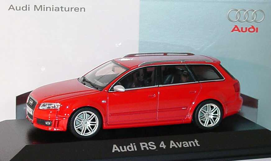 1 43 Audi Rs4 Avant 2005 Misanrot Werbemodell Minichamps