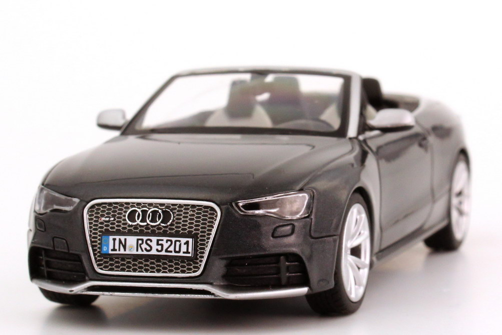 1 43 audi rs5 cabrio 2012 daytona grau grey rs 5 cabriolet. Black Bedroom Furniture Sets. Home Design Ideas