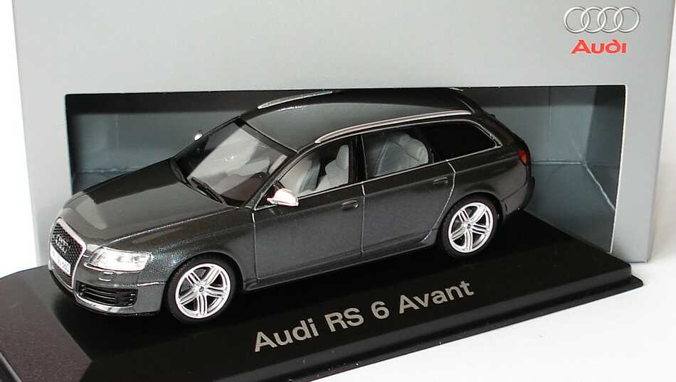1 43 audi rs6 avant c6 daytonagrau met werbemodell. Black Bedroom Furniture Sets. Home Design Ideas