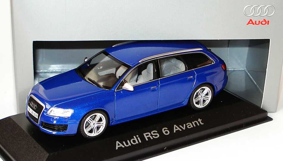 1 43 audi rs6 avant c6 sepangblau met werbemodell. Black Bedroom Furniture Sets. Home Design Ideas