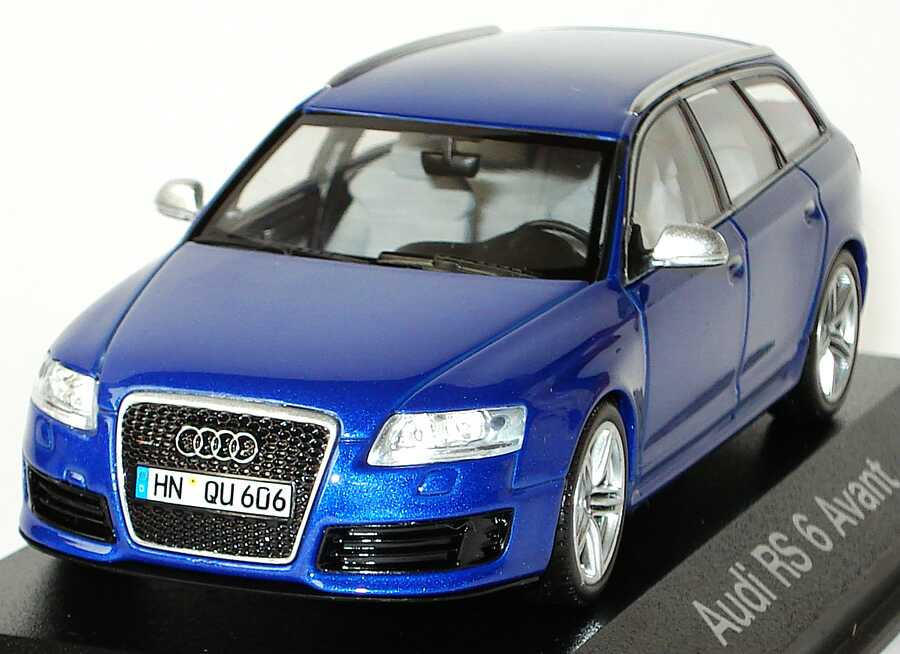 audi rs6 avant c6 sepangblau met werbemodell minichamps. Black Bedroom Furniture Sets. Home Design Ideas