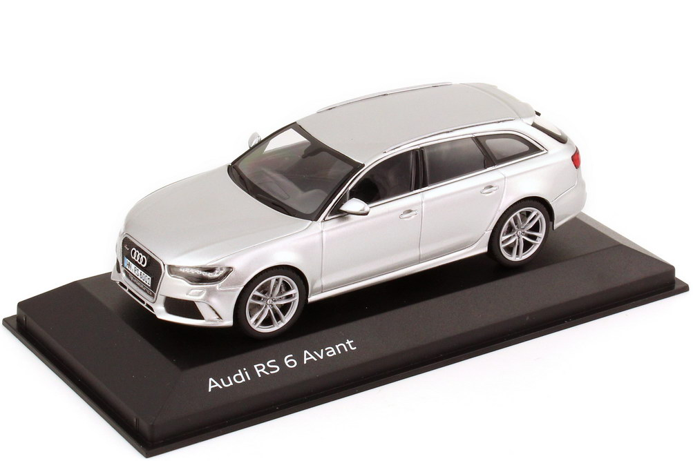 1 43 audi rs6 avant c7 prisma silber met werbemodell. Black Bedroom Furniture Sets. Home Design Ideas