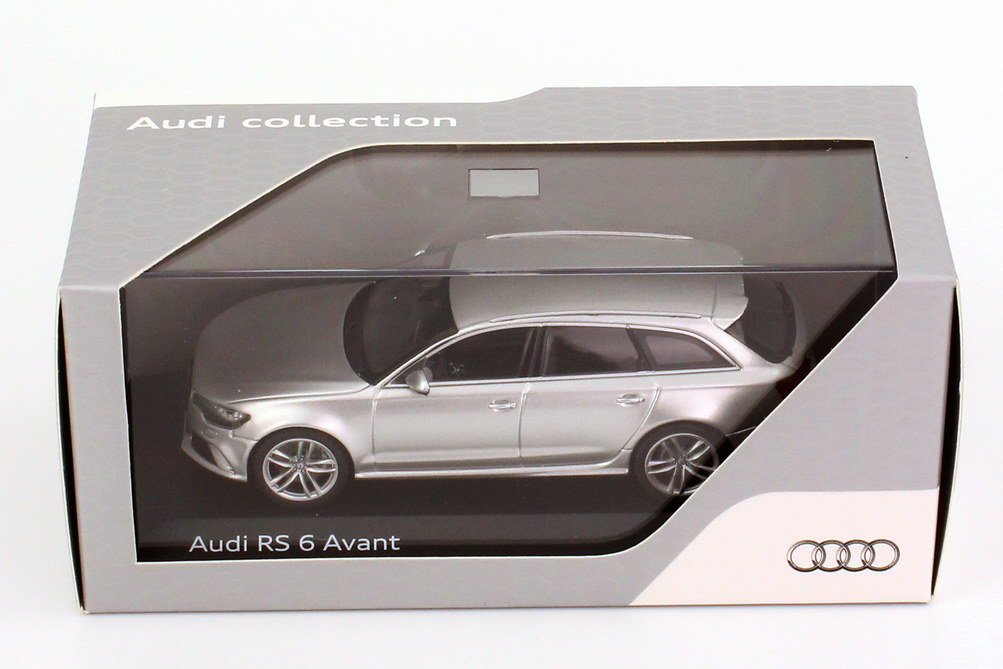 audi rs6 avant c7 prisma silber met werbemodell. Black Bedroom Furniture Sets. Home Design Ideas
