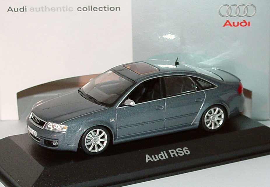 1 43 audi rs6 c5 daytonagrau met werbemodell minichamps. Black Bedroom Furniture Sets. Home Design Ideas