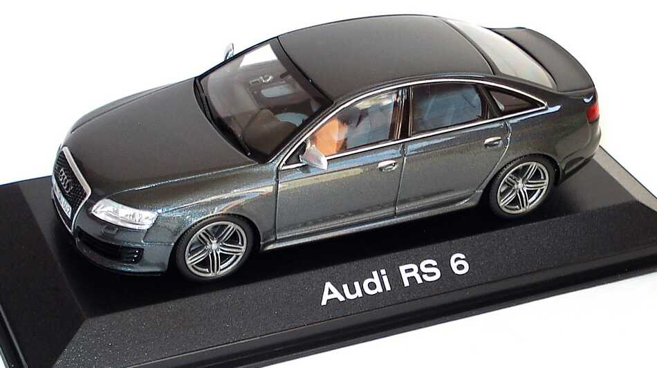 audi rs6 c6 daytonagrau met werbemodell minichamps. Black Bedroom Furniture Sets. Home Design Ideas