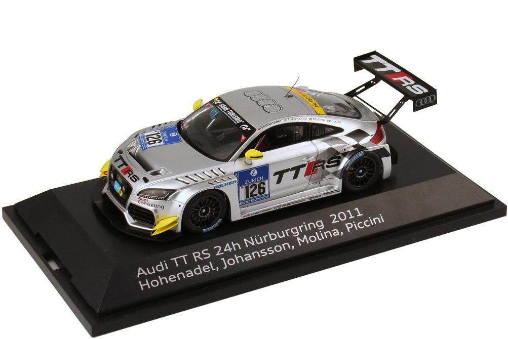 """1:43 Audi TT RS 24 Stundenrennen Nürburgring 2011 """"Raeder, TT RS"""" Nr.126, Hohenadel / Johansson / Molina / Piccini (Audi)"""