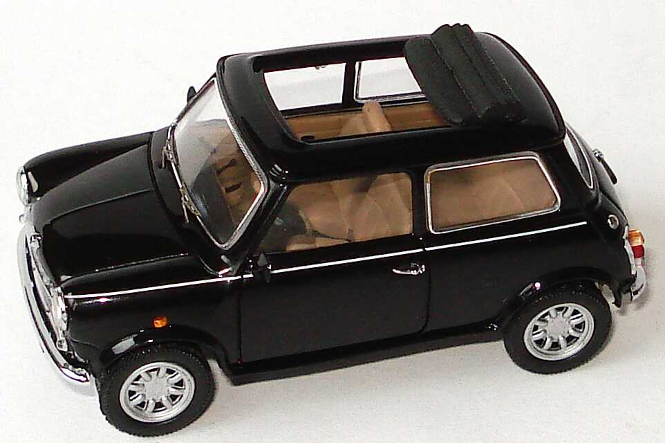 austin mini cooper classic schwarz offenes faltdach knightsbridge werbemodell schuco. Black Bedroom Furniture Sets. Home Design Ideas