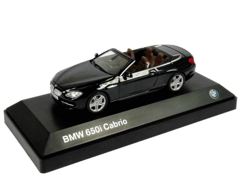 Foto 1:43 BMW 650i Cabrio (F12) saphir-schwarz-met. Werbemodell BMW-Group 80422167092
