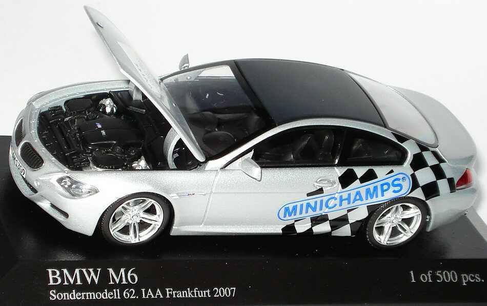 Foto 1:43 BMW M6 Coupé (E63) Sondermodell 62. IAA Frankfurt 2007 Minichamps 403026123