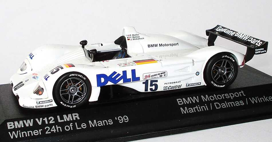 bmw v12 lmr 24h von le mans 1999 dell martini dalmas winkelhock siegerfahrzeug. Black Bedroom Furniture Sets. Home Design Ideas