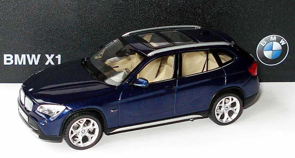Foto 1:43 BMW X1 (E84) deepseablue-met. Werbemodell Schuco 80422156806