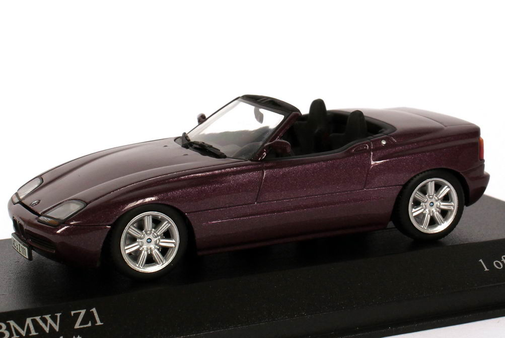 bmw z1 magic violett met minichamps 400020101 bild 3. Black Bedroom Furniture Sets. Home Design Ideas
