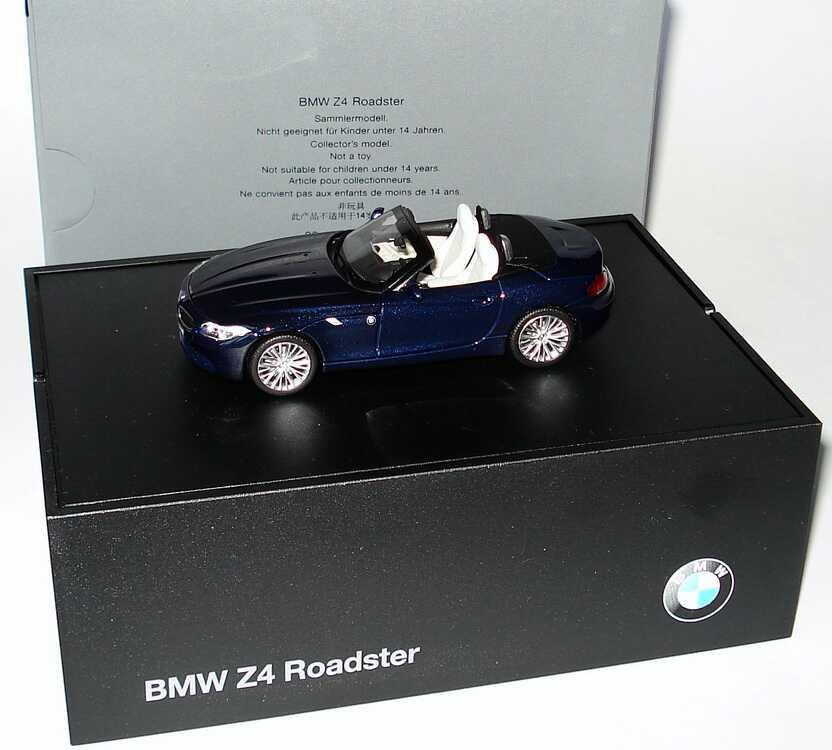 Bmw Z4 Sdrive35i: 1:43 BMW Z4 SDrive35i (E89) Tiefseeblau-met. Werbemodell