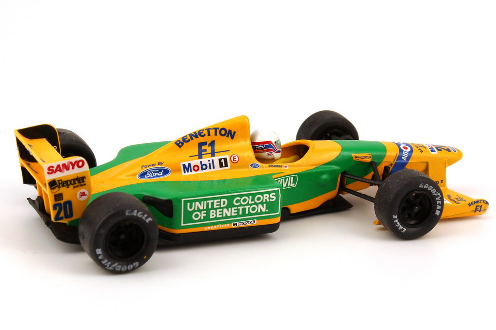 43 Benetton Ford B192 Formula 1 1992 No 20 Martin Brundle Onyx 144