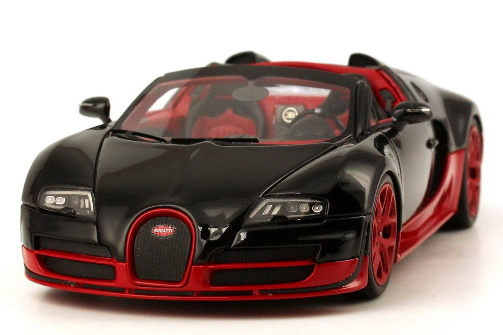 1 43 bugatti veyron 16 4 grand sport vitesse schwarz rot black red looksmart ebay. Black Bedroom Furniture Sets. Home Design Ideas