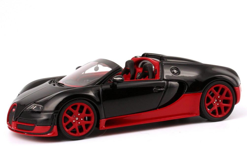1 43 bugatti veyron 16 4 grand sport vitesse schwarz rot. Black Bedroom Furniture Sets. Home Design Ideas
