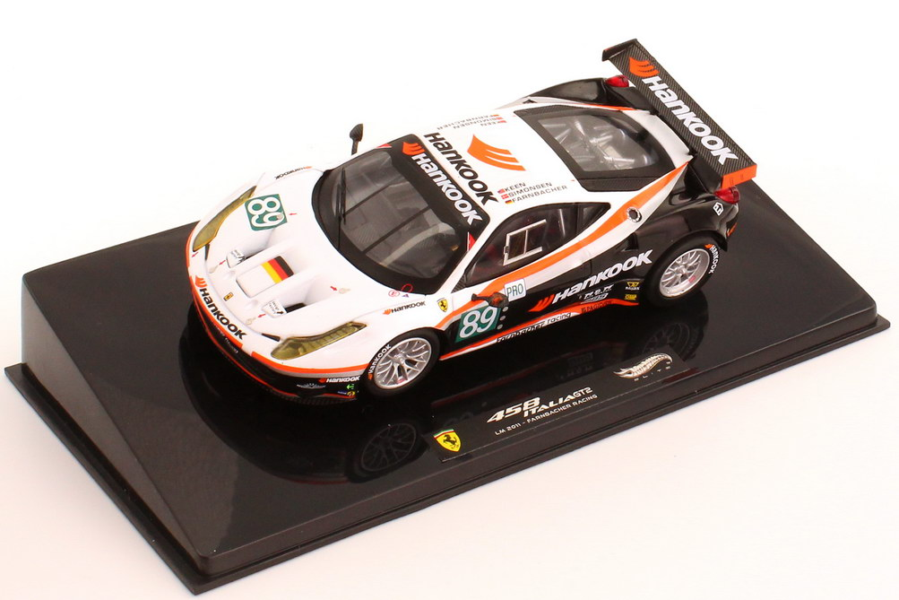 "1:43 Ferrari 458 Italia GT2 24h von Le Mans 2011 ""Farnbacher Racing, Hankook"" Nr.89, Farnbacher / Simonsen / Keen"