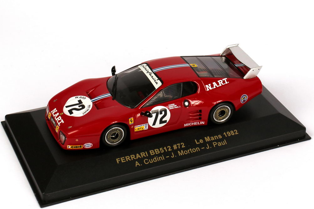 1 43 ferrari 512bb le mans 24h von le mans 1982 n a r t cudini morton paul ixo fer016. Black Bedroom Furniture Sets. Home Design Ideas