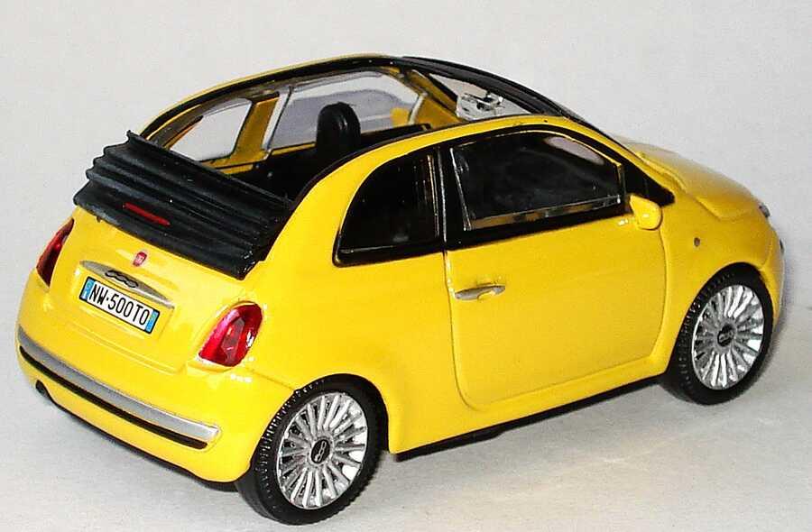 fiat 500 gelb cabrio auto bild idee