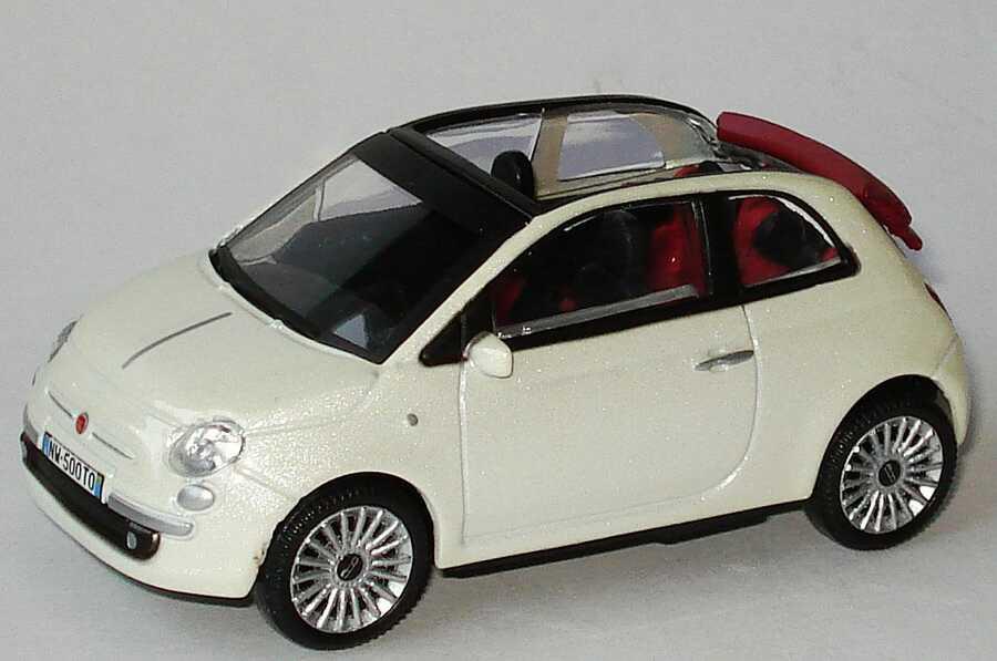 1 43 fiat 500c cabrio 2009 wei met mondo motors 53 126. Black Bedroom Furniture Sets. Home Design Ideas