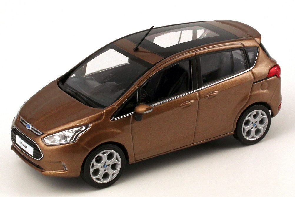 1 43 ford b max 2012 canyon braun brown dealer edition oem. Black Bedroom Furniture Sets. Home Design Ideas