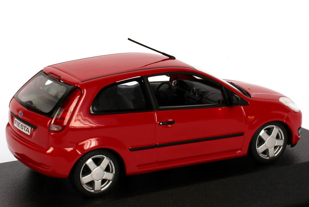 1 43 ford fiesta 2002 3 door red red dealer edition oem minichamps ebay. Black Bedroom Furniture Sets. Home Design Ideas