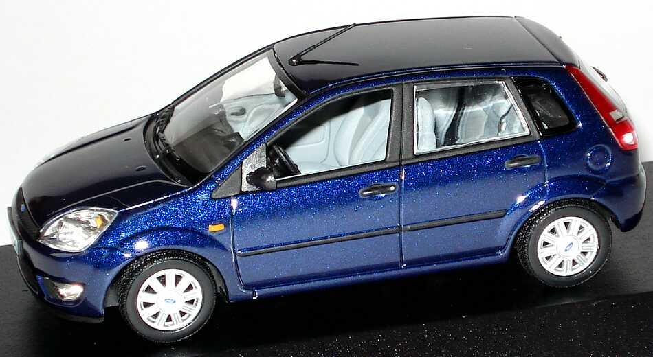 1 43 ford fiesta 2002 5t rig bleu fonc hydromel edition distributeur oem ebay. Black Bedroom Furniture Sets. Home Design Ideas