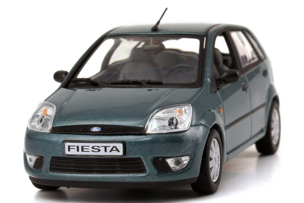 1 43 ford fiesta 2002 5 door turquoise green green dealer edition oem minichamps ebay. Black Bedroom Furniture Sets. Home Design Ideas