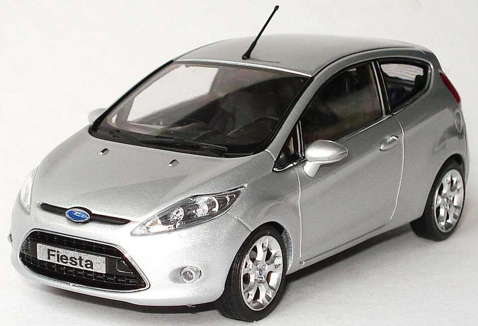 1 43 ford fiesta 2009 mk 7 typ ja8 silber silver dealer edition minichamps ebay. Black Bedroom Furniture Sets. Home Design Ideas